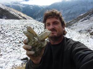 Calcitwürfel mit Bergkristallen Vrin